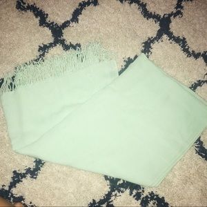Thick Oversized Mint Green Fringe Scarf